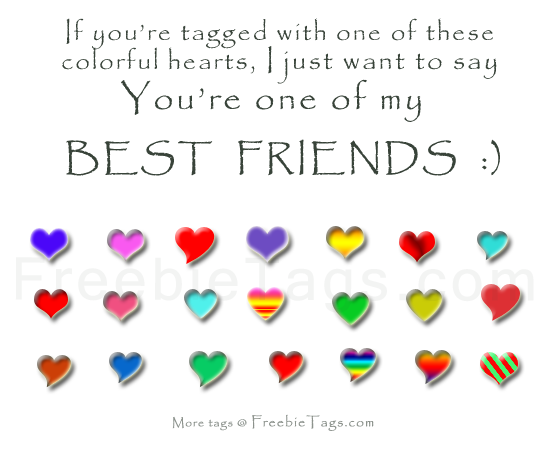 Tag your best friends on facebook with a heart