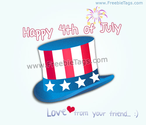 Happy 4th of July facebook tag picture
