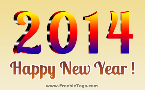 Happy New Year 2014 tag for all your friends and family