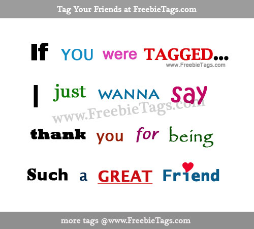 If you are tagged I just want to say thank you for being such a great friend