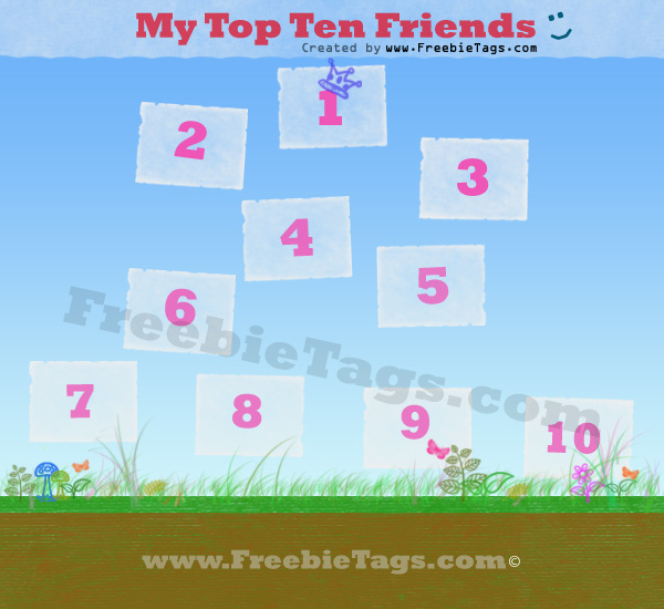 My top ten friends Facebook tag