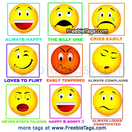 Tag Facebook friends with funny smiley faces