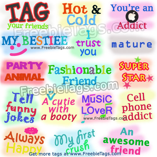 Tag your friends with Facebook tag