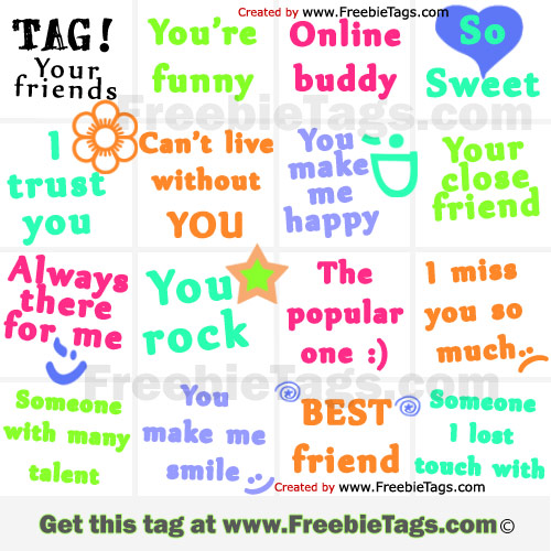 Tag your friends with nice Facebook tag photo