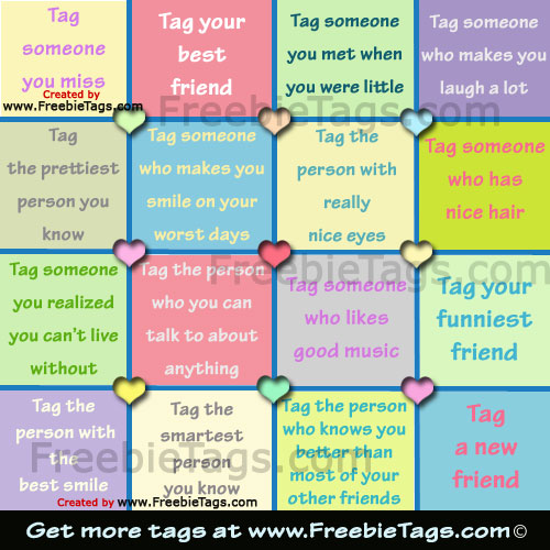 Tag your friends with nice Facebook tag photos