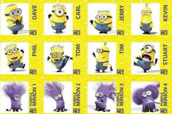 The Minions - despicable me 2 facebook tag